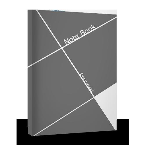 note book灰白条纹笔记本免费diy